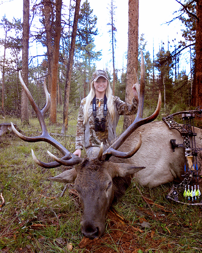 Alli Armstrong bowkill elk